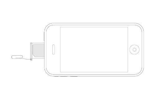 Как достать симку из iPhone