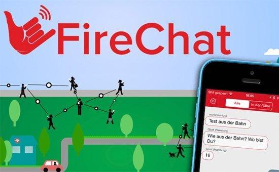 FireChat - мессенджер, не использующий сотовые сети