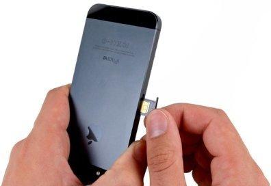 как поставить симкарту в айфон 4