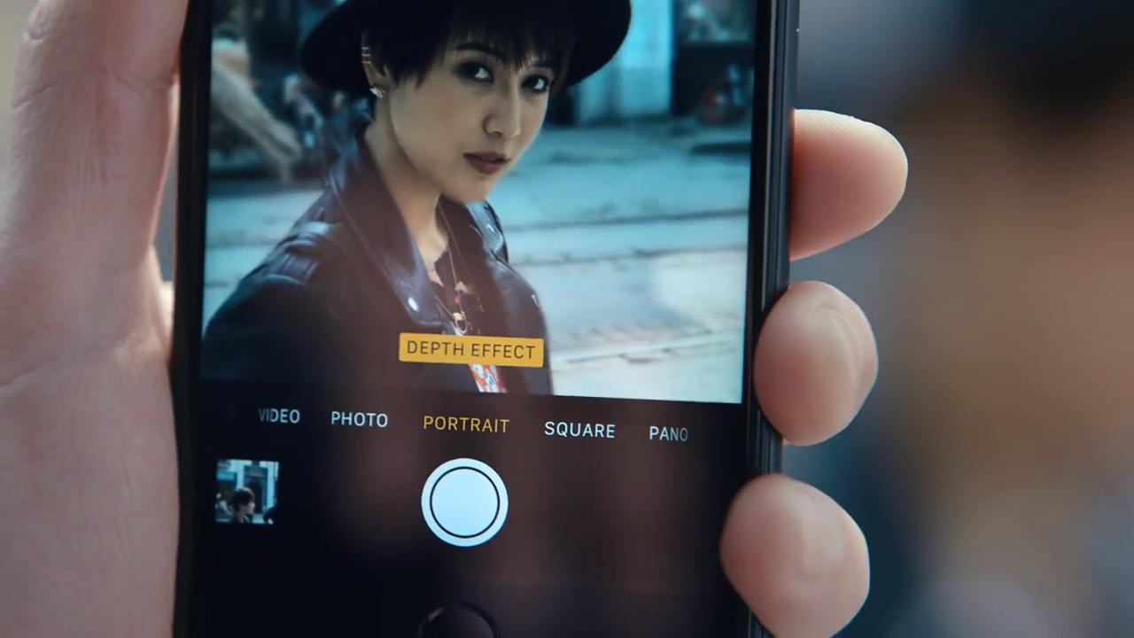функция портрет на iphone 7
