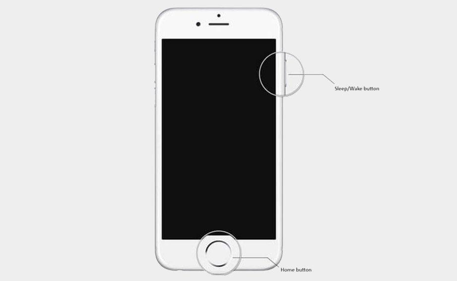 как перезагрузить айфон 4 если не работает экран