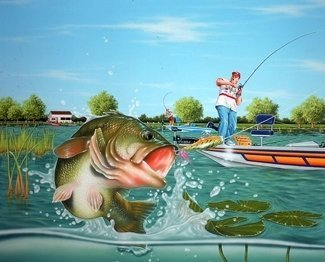 Large bass%2bfishing%2bwallpaper%2bdhf