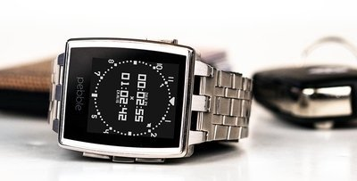 Large pebble steel fashion