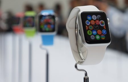 Large cro electronics apple event smart watch display 09 14