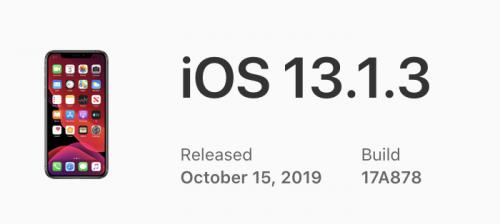 Внезапно вышла iOS 13.1.3. Исправляет много багов